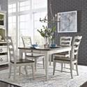 Liberty Furniture Parisian Marketplace 5-Piece Rectangular Table Set - Item Number: 698-DR-5RLS