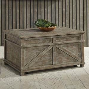 Rustic Storage Trunk with Casters