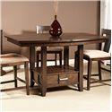 Liberty Furniture Patterson Gathering Table with Storage Pedestal Base
