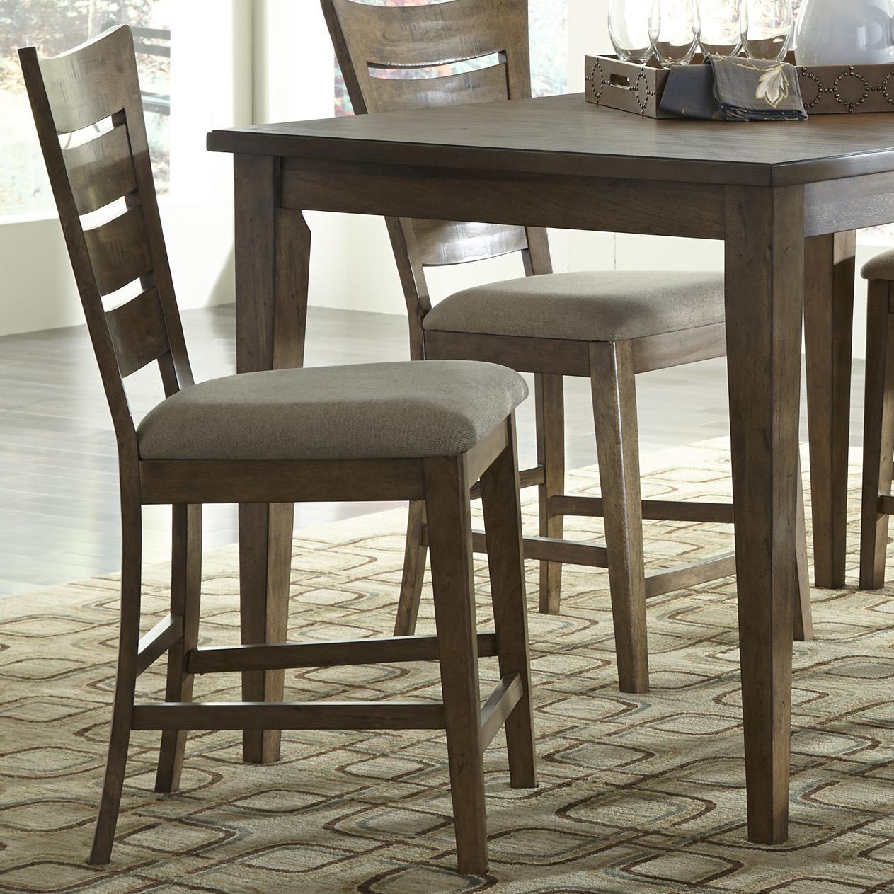 Vendor 5349 Pebble Creek Ladder Back Counter Chair - Item Number: 376-B200124