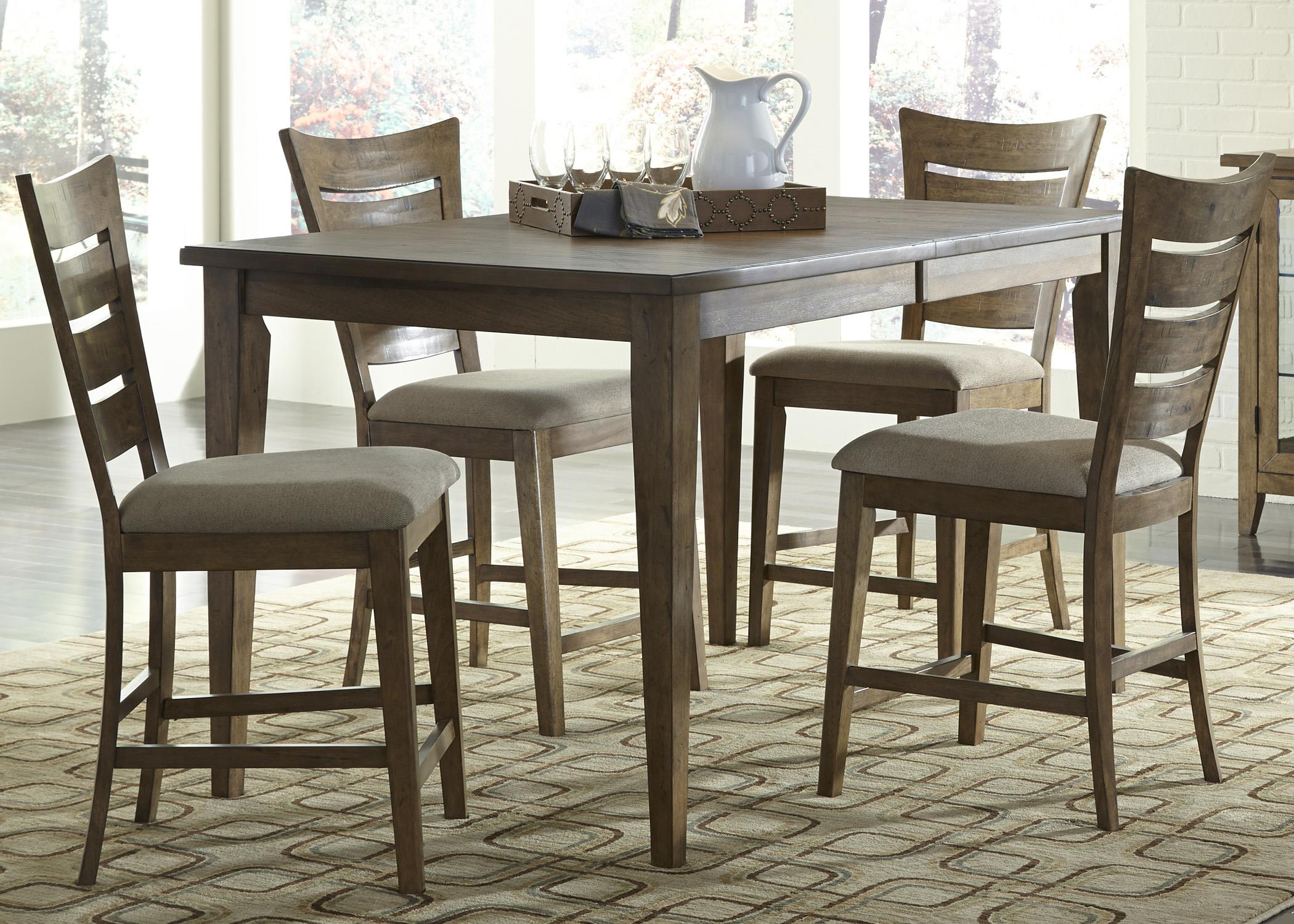 Liberty Furniture Pebble Creek 5 Piece Gathering Table Set - Item Number: 376-CD-5GTS