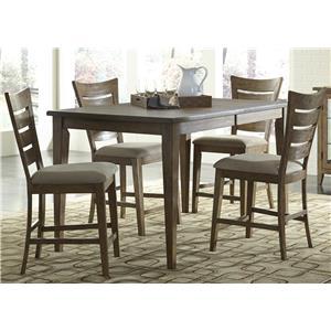 Vendor 5349 Pebble Creek 5 Piece Gathering Table Set