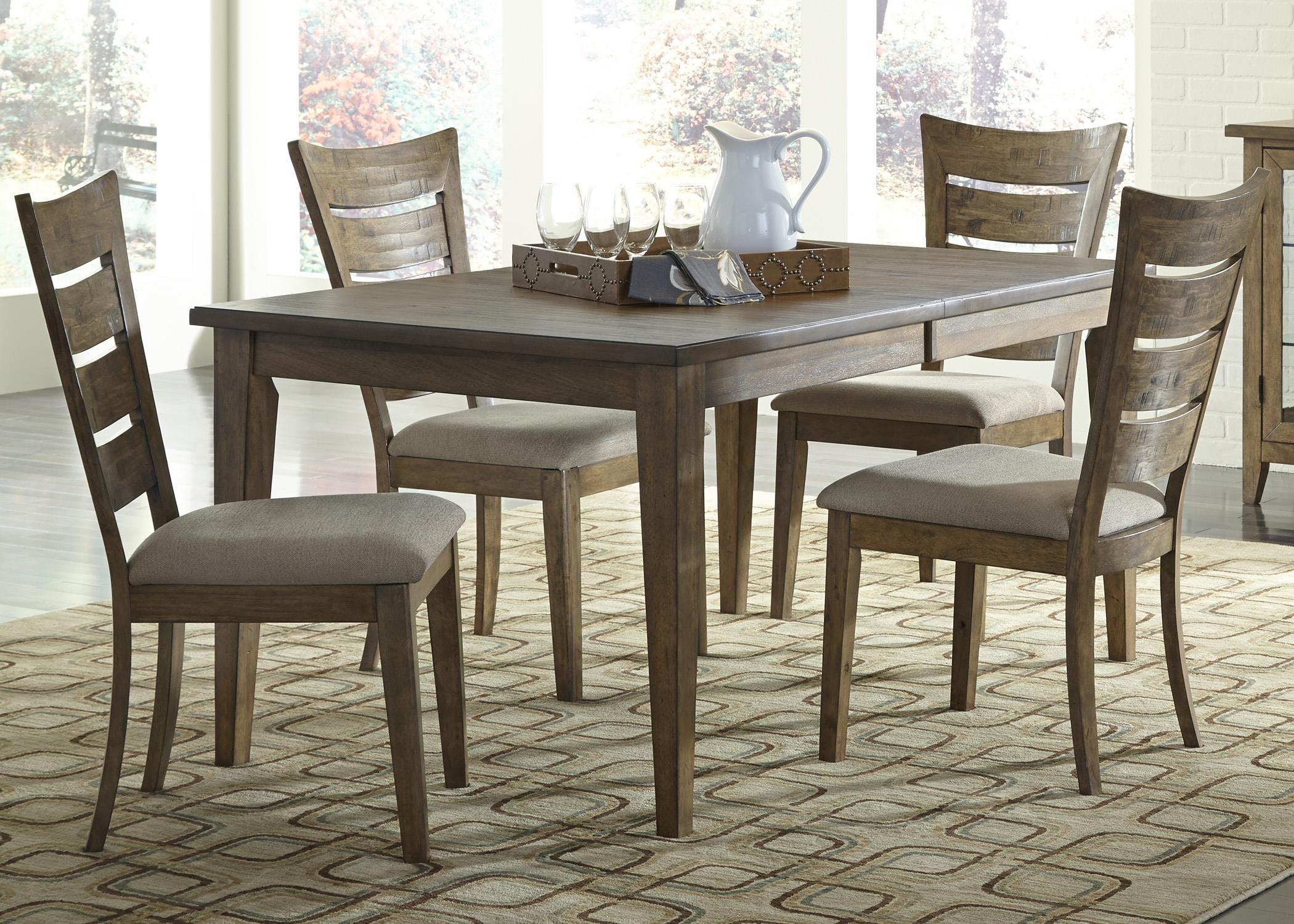 Liberty Furniture Pebble Creek 5 Piece Rectangular Table Set - Item Number: 376-CD-5RLS