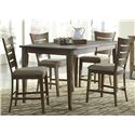 Liberty Furniture Pebble Creek Casual Gathering Table with One 18 Inch Butterfly Leaf