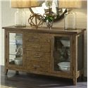 Vendor 5349 Pebble Creek Casual Server with 4 Drawers and LED Touch Lighting