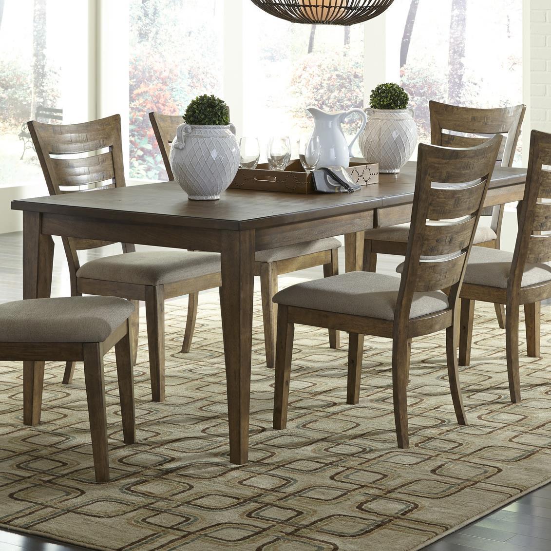 Liberty Furniture Pebble Creek Rectangular Leg Table - Item Number: 376-T3681