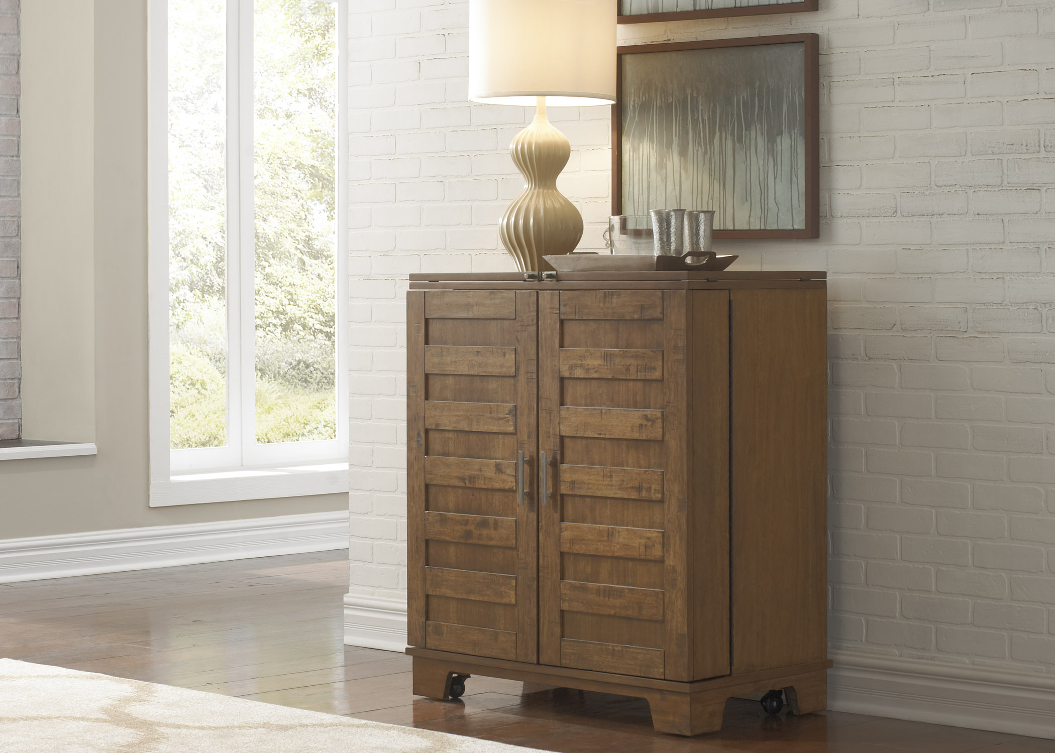 Liberty Furniture Pebble Creek Wine Cabinet - Item Number: 376-WC3742