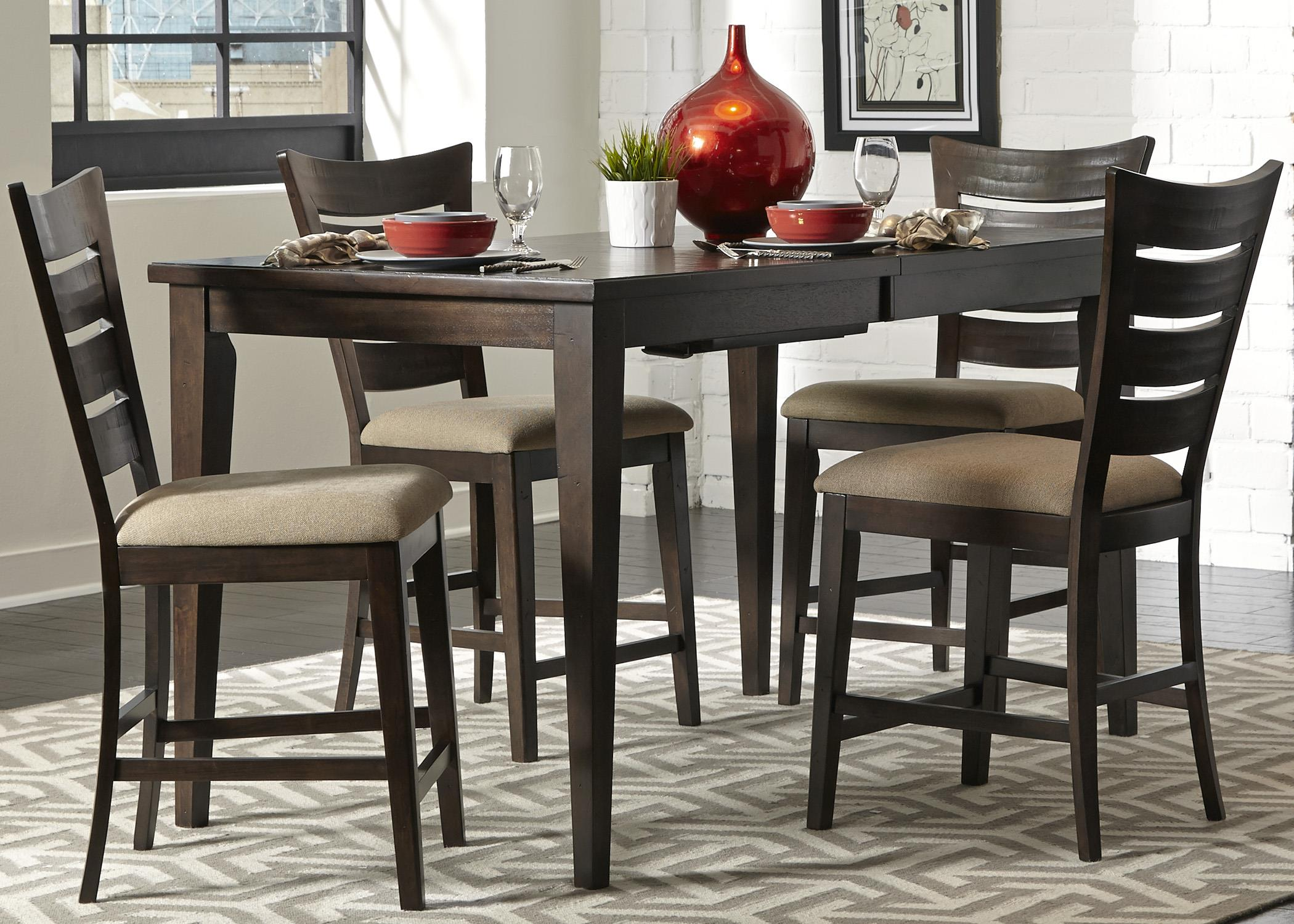 Liberty Furniture Pebble Creek 5 Piece Gathering Table Set - Item Number: 476-CD-5GTS