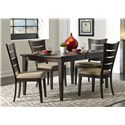 Liberty Furniture Pebble Creek Casual Rectangular Leg Table with 18 Inch Butterfly Leaf