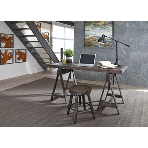 Adjustable Height Desk and Stool