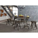 Liberty Furniture Pineville Adjustable Height Table and Stool Set - Item Number: 170-CD-5GTS