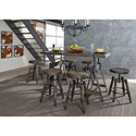 Liberty Furniture Pineville Adjustable Height Table and Stool Set - Item Number: 170-CD-7GTS