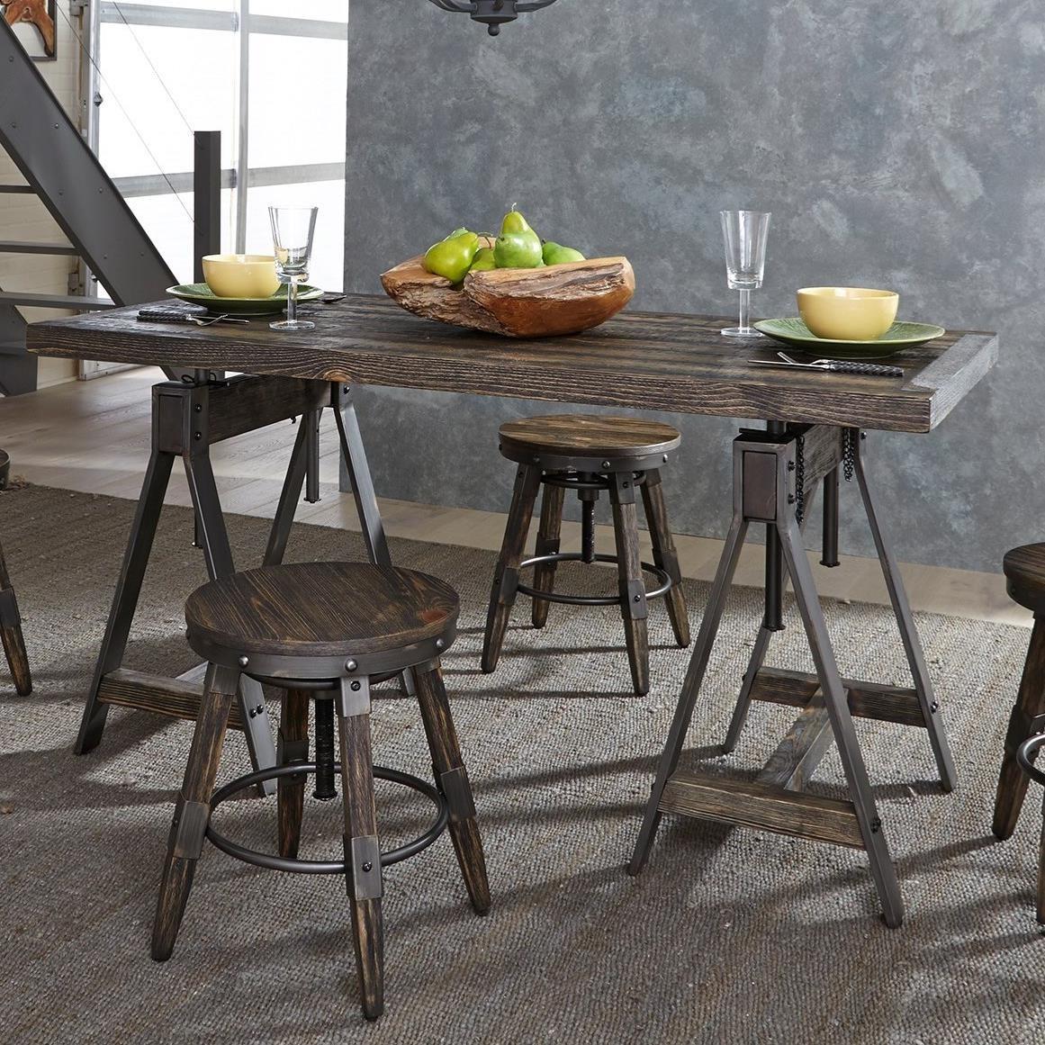 Liberty Furniture Pineville Industrial Adjustable Height