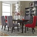 Liberty Furniture Platinum Leg Table and 6 Side Chair Set - Item Number: 861-T4490+2xC6501S-R+4xC6501S-G