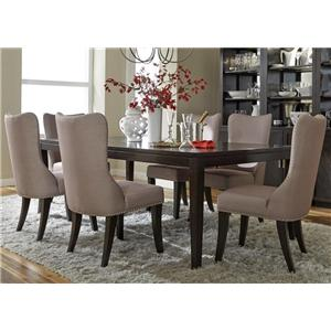 Liberty Furniture Platinum Leg Table and 6 Side Chair Set