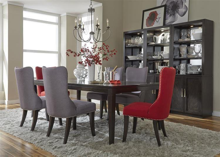 Liberty Furniture Platinum Contemporary Dining Table Group - Item Number: 861-T4490+C6501S-G T-4 GREY