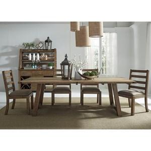 Vendor 5349 Prescott Valley Dining 5 Piece Table & Chair Set