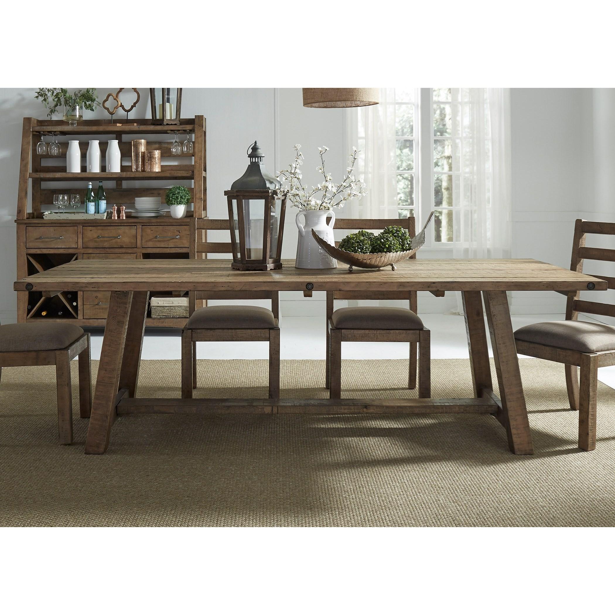 Vendor 5349 Prescott Valley Dining Rustic Dining Table - Item Number: 178-P4296+T4296