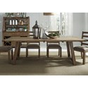 Liberty Furniture Prescott Valley Dining Trestle Table - Item Number: 178-P4296+T4296