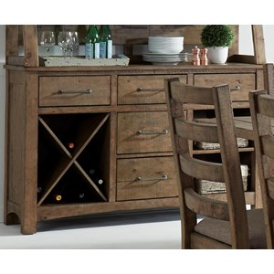 Liberty Furniture Prescott Valley Dining 5 Drawer Server