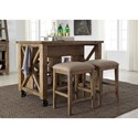 Liberty Furniture Prescott Valley Gathering Table Set - Item Number: 178-CD-3GTS