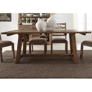 "Liberty Furniture Prescott Valley 77"" Trestle Table"