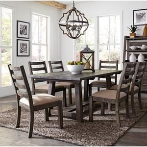 "Liberty Furniture Prescott Valley 7-Piece 77"" Trestle Table Set"