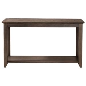 Sofa Table with Herringbone Top