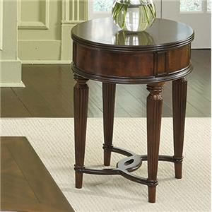 Liberty Furniture Regent Park Oval Chair Side Table