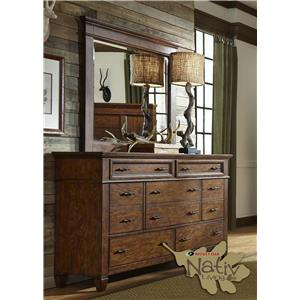 Liberty Furniture Rocky Mountain 616 Dresser & Mirror