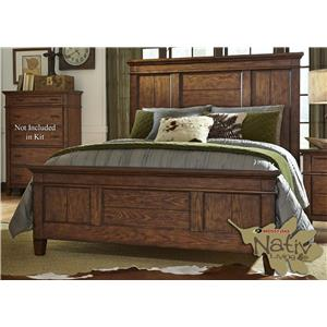 Liberty Furniture Rocky Mountain 616 King Panel Bed