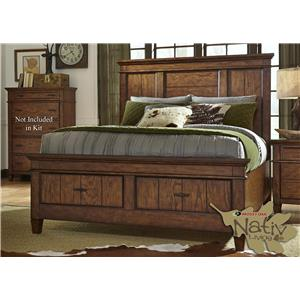 Liberty Furniture Rocky Mountain 616 King Storage Bed