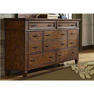Liberty Furniture Rocky Mountain 616 7 Drawer Dresser