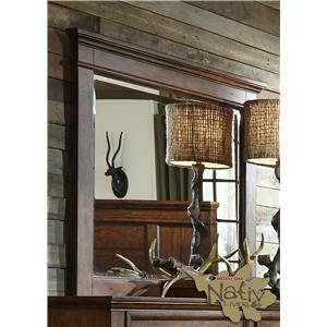 Liberty Furniture Rocky Mountain 616 Mirror with Beveled Glass