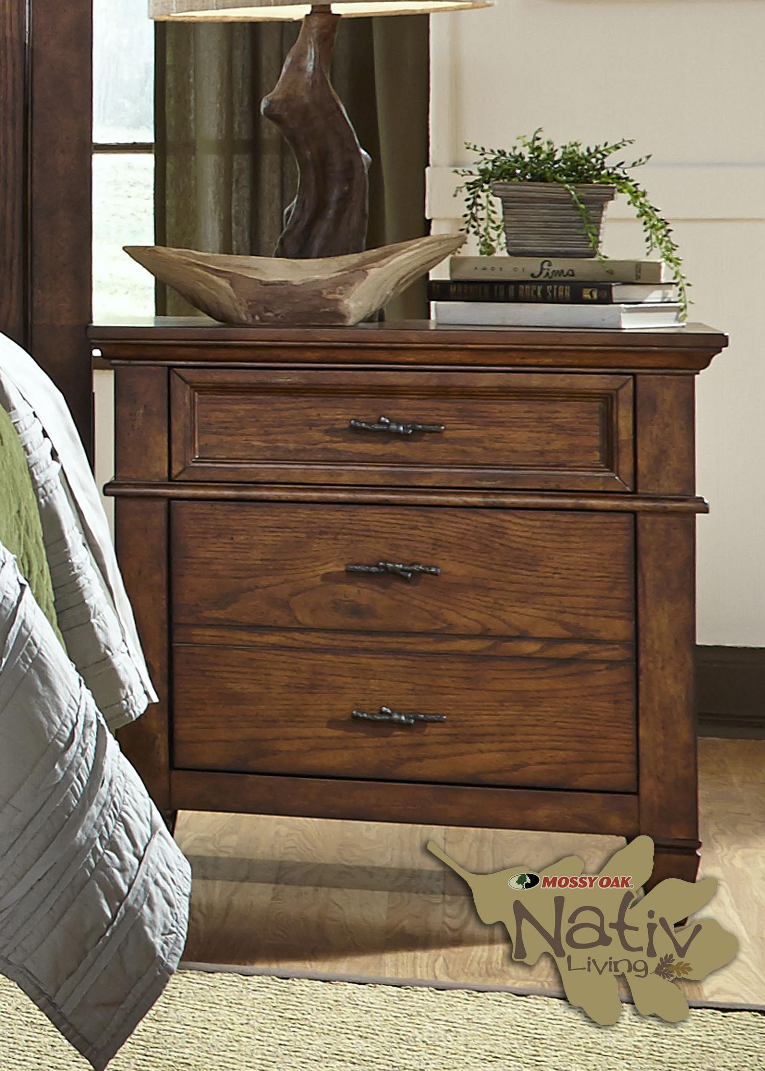 Liberty Furniture Rocky Mountain 616 2 Drawer Night Stand - Item Number: 616-BR61