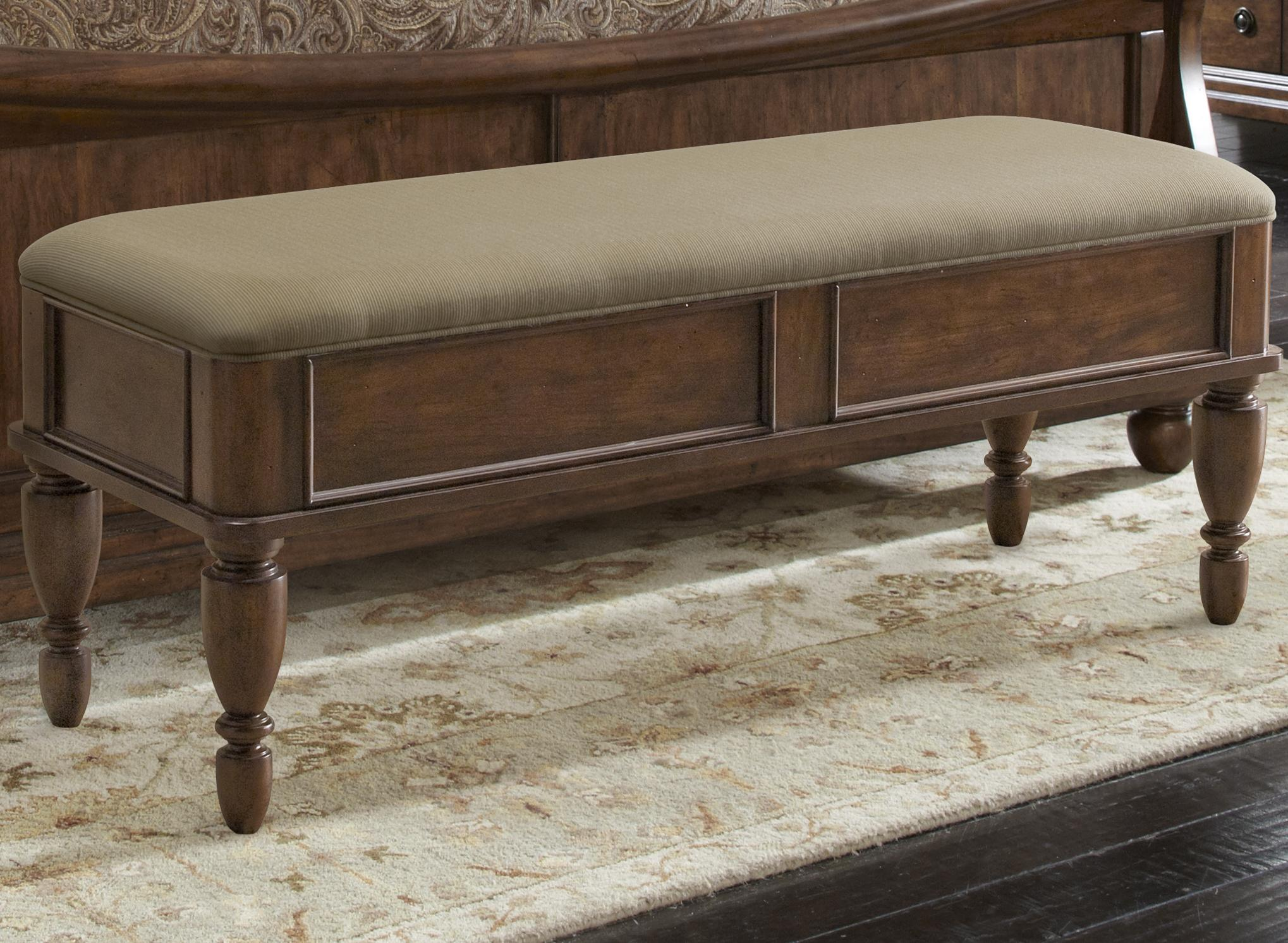 Liberty Furniture Rustic Traditions Bed Bench With Upholstered Seat Wayside Furniture