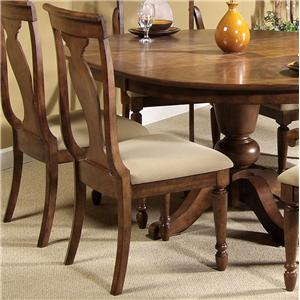 Liberty Furniture Rustic Traditions Splat Back Side Chair