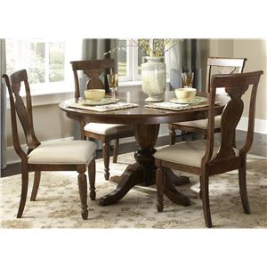 Vendor 5349 Rustic Traditions 5-Piece Oval Table Set