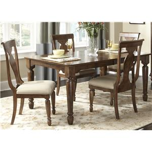 Liberty Furniture Rustic Traditions 5 Piece Rectangular Table Set