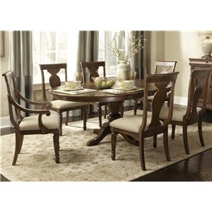 Vendor 5349 Rustic Traditions 7 Piece Oval Table Set