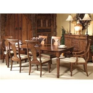 Liberty Furniture Rustic Traditions 7-Piece Rectangular Table Set