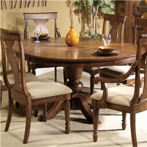 Vendor 5349 Rustic Traditions Oval Pedestal Table
