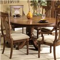Vendor 5349 Rustic Traditions Oval Pedestal Table - Item Number: 589-P5472-T5472