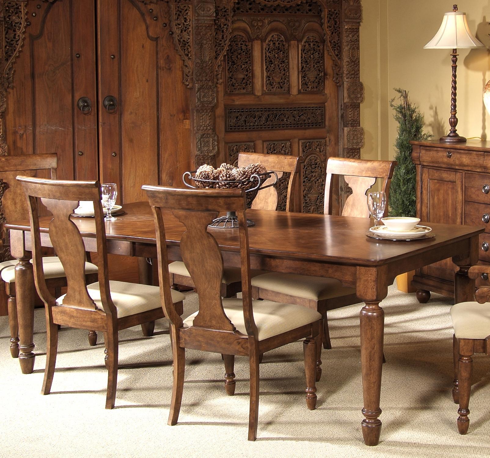 Liberty furniture rustic traditions rectangular leg table item number 589 t4284
