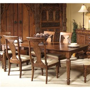 Liberty Furniture Rustic Traditions Rectangular Leg Table