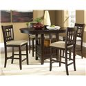 Vendor 5349 Santa Rosa 24 Inch Upholstered Barstool - Shown with Pub Table