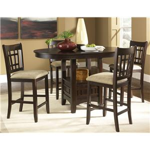Vendor 5349 Santa Rosa Oval Pub Table & Bar Stool Set