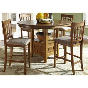 Liberty Furniture Santa Rosa 5-Piece Bar Stool and Pub Table Set