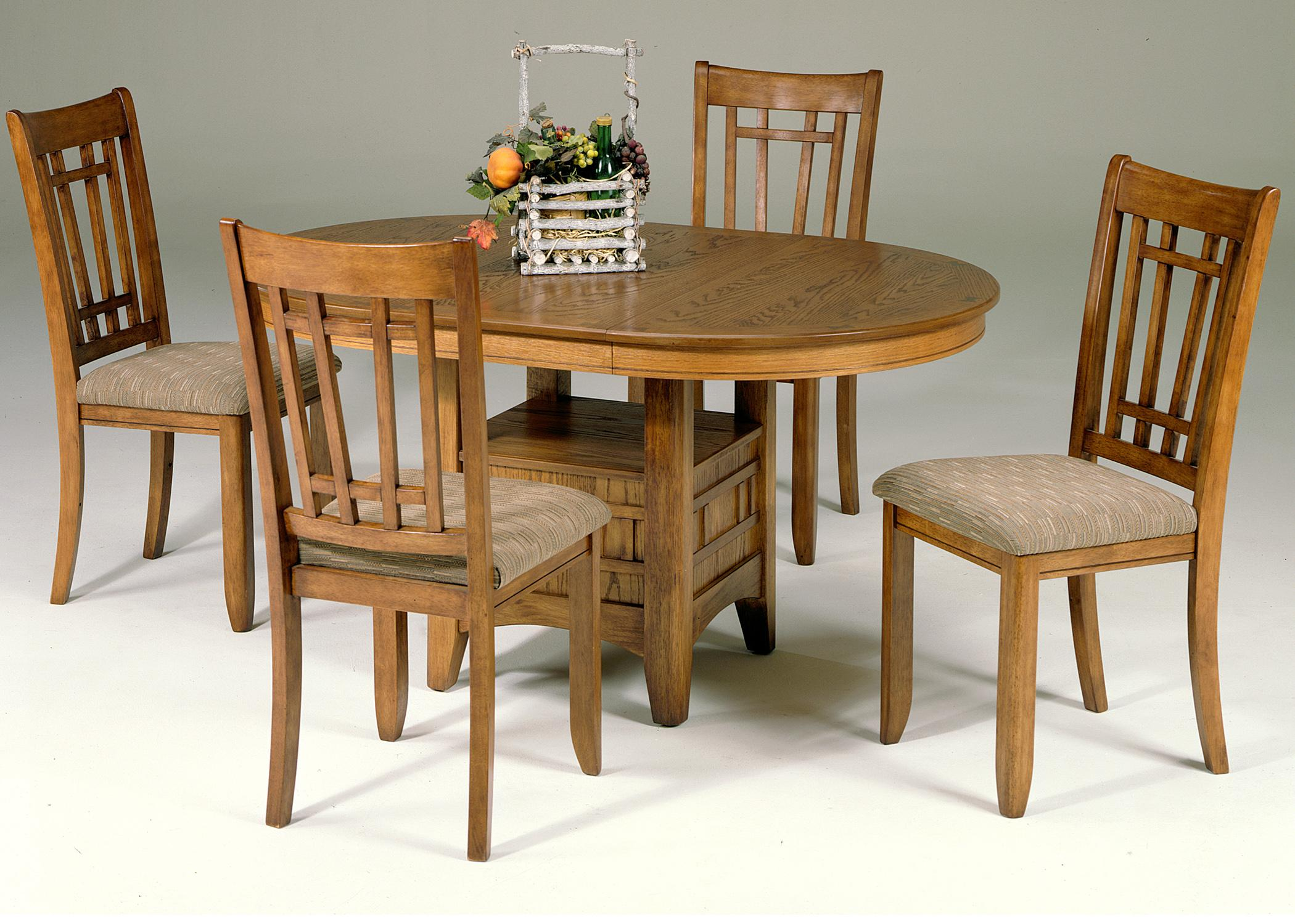 Liberty Furniture Santa Rosa 5 Piece Pedestal Table Set w 4