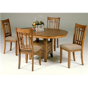 Liberty Furniture Santa Rosa 5-Piece Pedestal Table Set